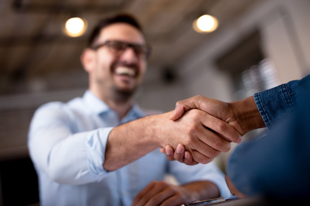 Shaking hands on a new Chattel Mortgage