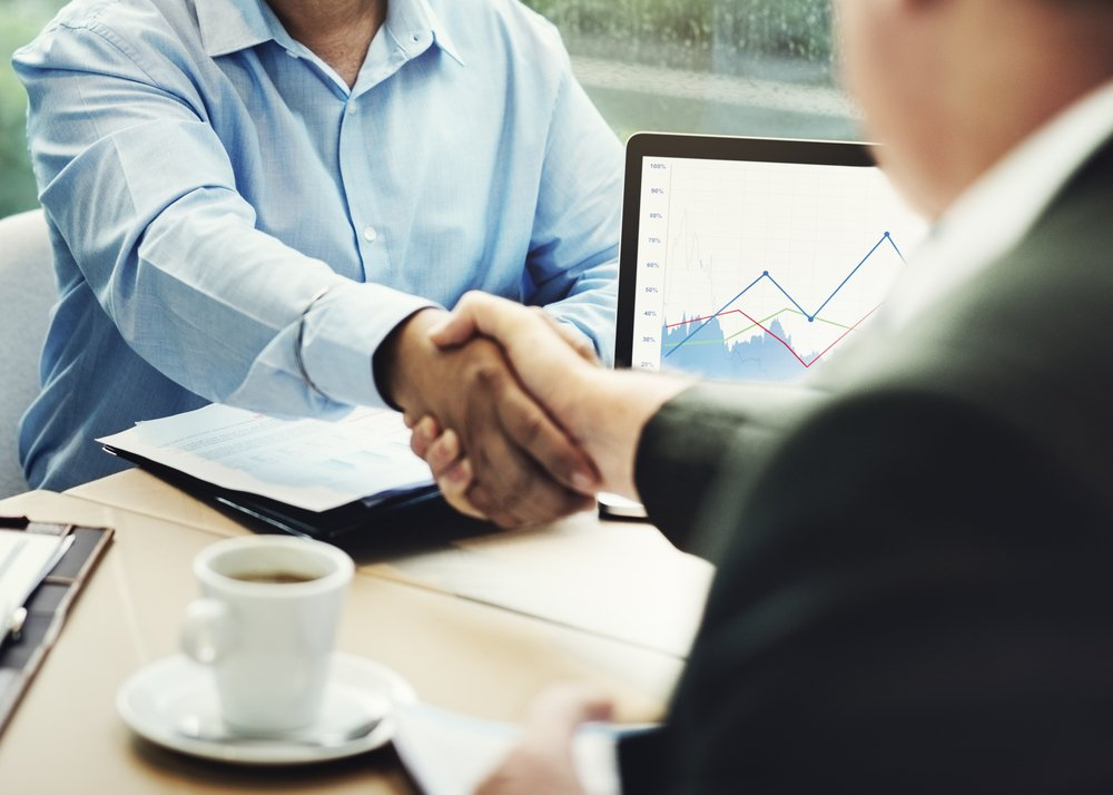 Shaking hands on new Unsecured Short Term Business Loan