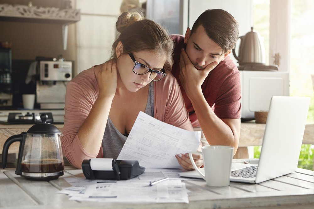 Couple considering debt consolidation